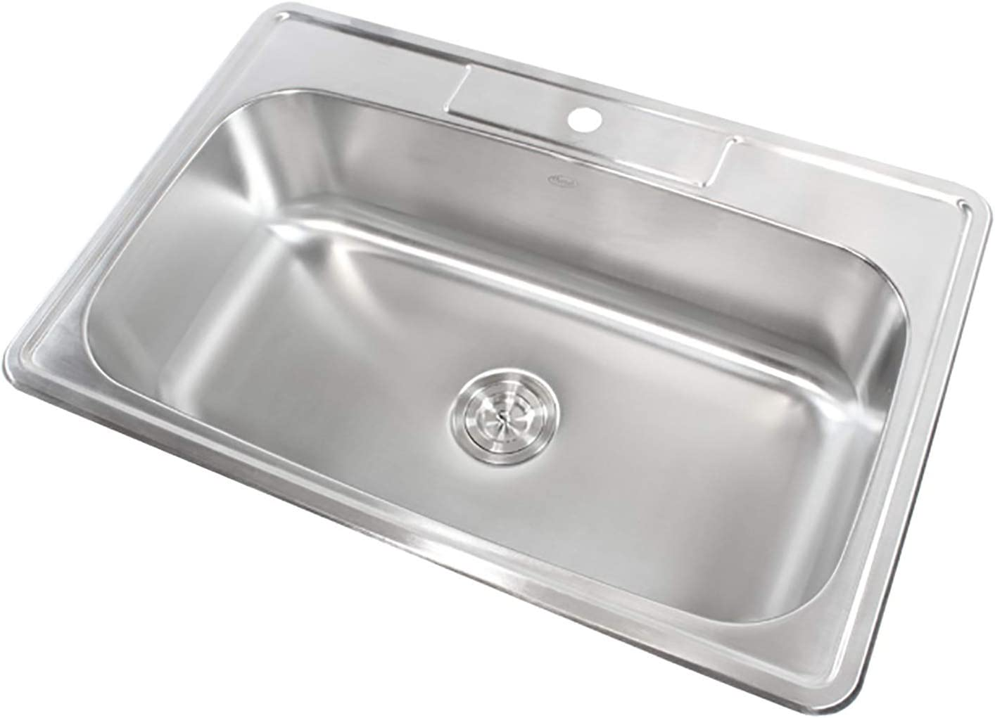 33 Inch Top-mount Drop-in Stainless Steel Single Bowl Kitchen Sink With 1 Faucet Hole – 18 Gauge