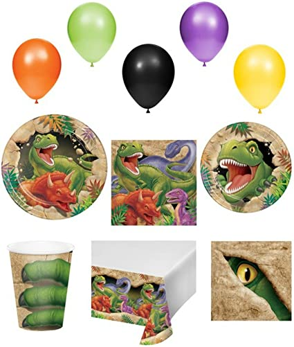 Boys Girls Dinosaur Prehistoric Animal Birthday Party Tableware Tablecover