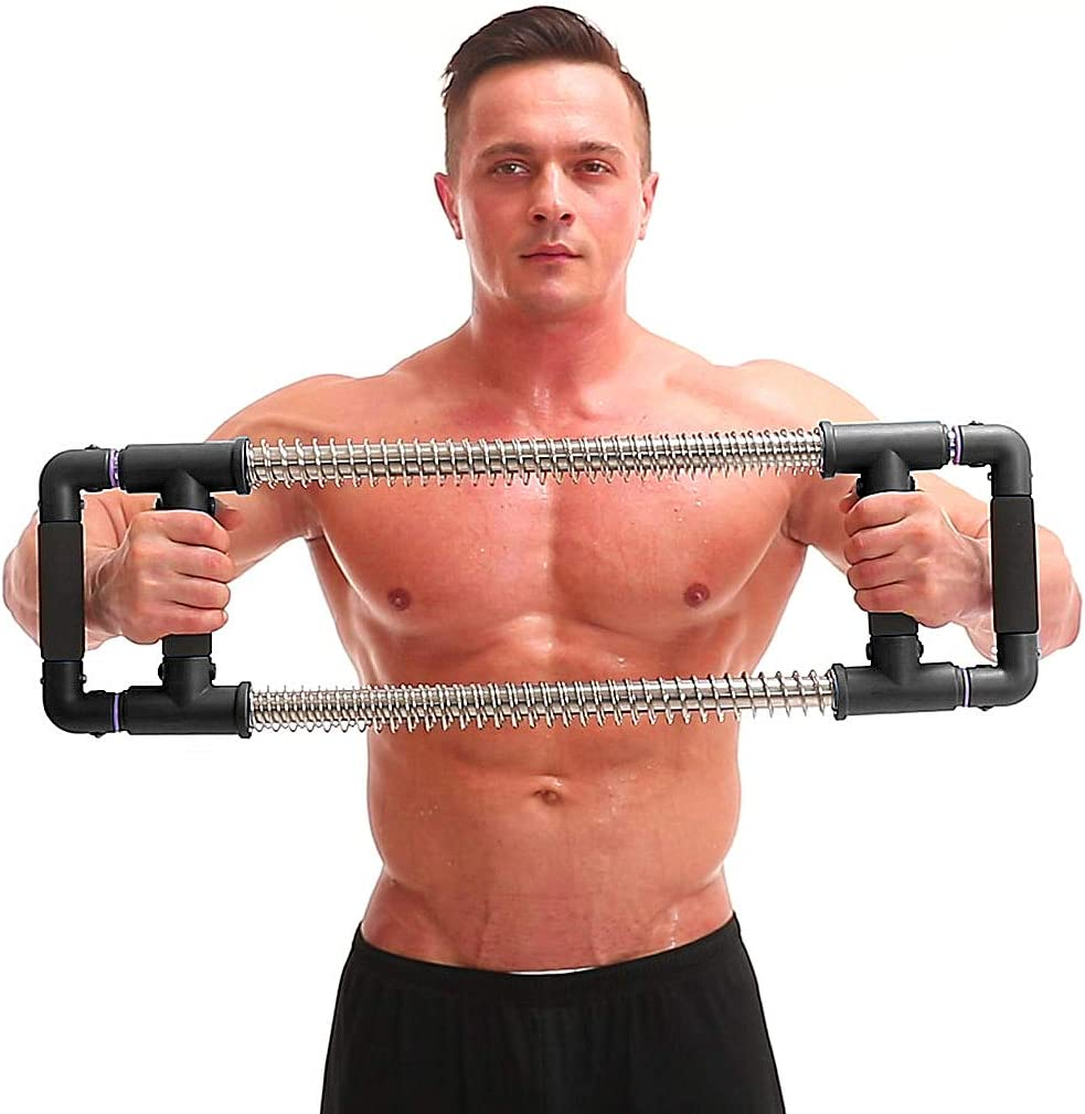 GoFitness Super Push Down Bar - Chest and Arm Workout Machine, Total Upper Body Workout and Strength Training, Portable Equipment for Home Exercise