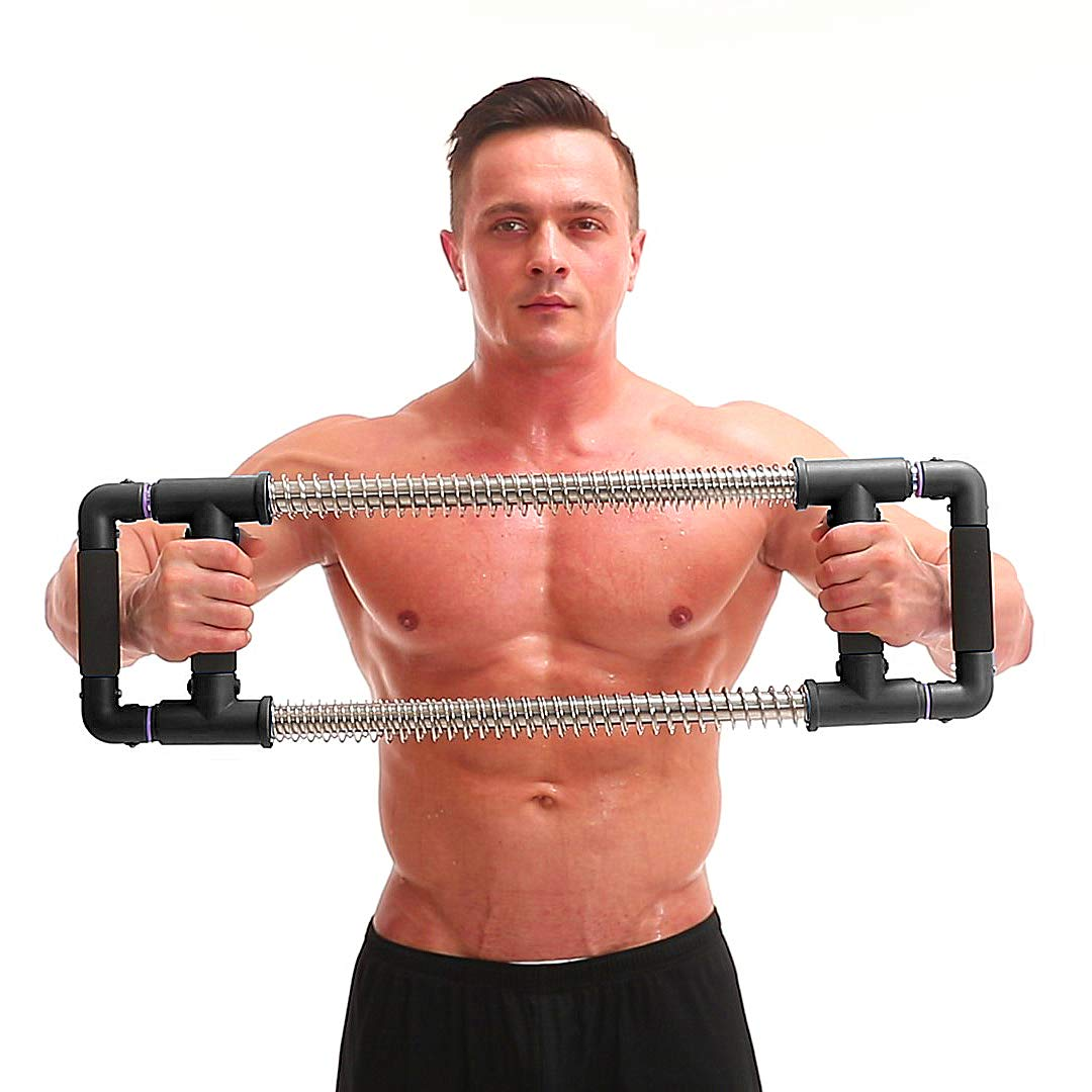 GoFitness Super Push Down Bar - Total Upper Body Workout Equipment, Press Down Machine - Chest Workout, Strength Training, Home Fitness by GoFitness (Image #1)