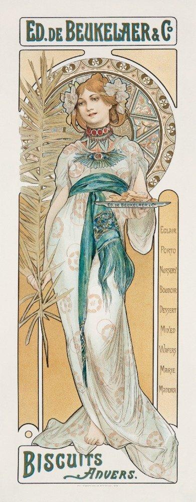 Ed De Beukelaer – Biscuitsヴィンテージポスター(アーティスト: Mucha、Alphonse )フランスC。1900 16 x 24 Giclee Print LANT-59016-16x24 B017ZF7EGA  16 x 24 Giclee Print