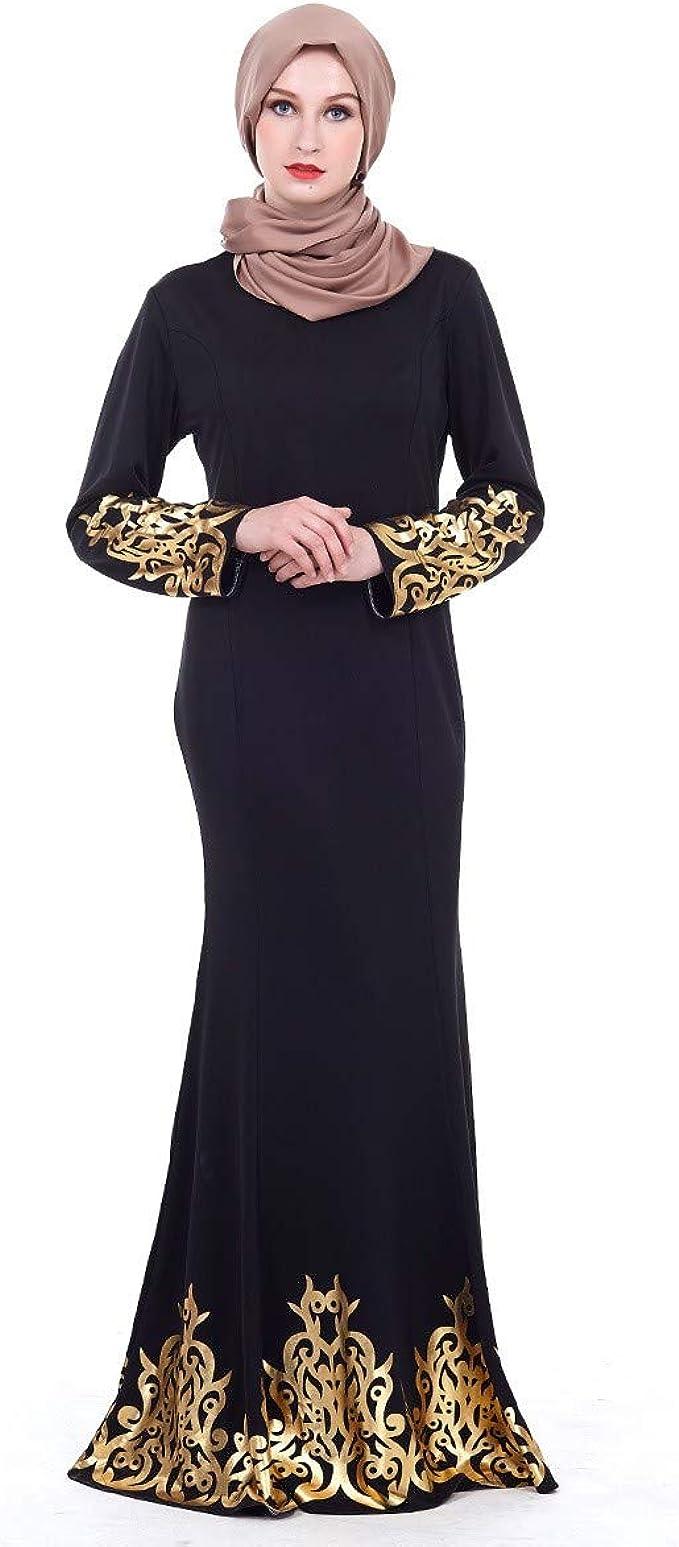 AmyGline Muslimische Kleider Damen islamische Kleider Hofstil