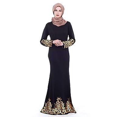 Dresslksnf Femmes Robe Musulmane Robe Arabe Style Palais