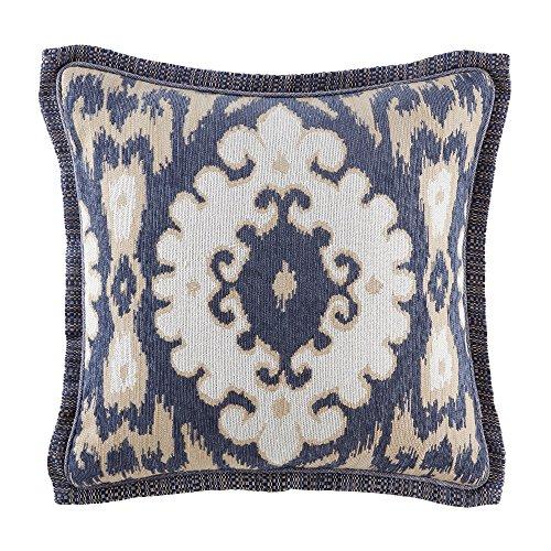 Croscill Kayden 18x18 Square Pillow Decorative Pillow, Blue