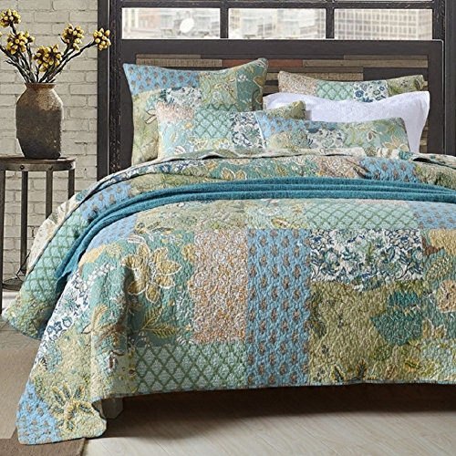 Retro Comforter Set Floral Paisley Printed Pattern 100 Cotton Patchwork Bedspreads Quilt Sets King Size