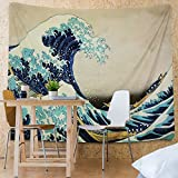 Tapestry Wall Tapestry Wall Hanging Tapestries The Great Wave off Kanagawa by Katsushika Hokusai Thirty-six Views of Mount Fuji Tapestry Wall Blanket Wall Decor Wall Art Home Decor 82 x 59 Inches