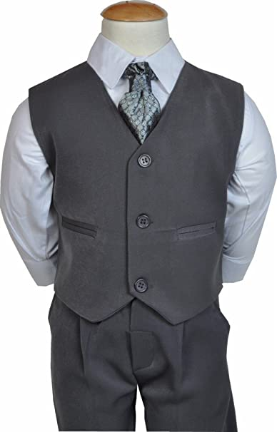 Traje de boda para niño, color gris, estilo formal (tallas: 6 ...