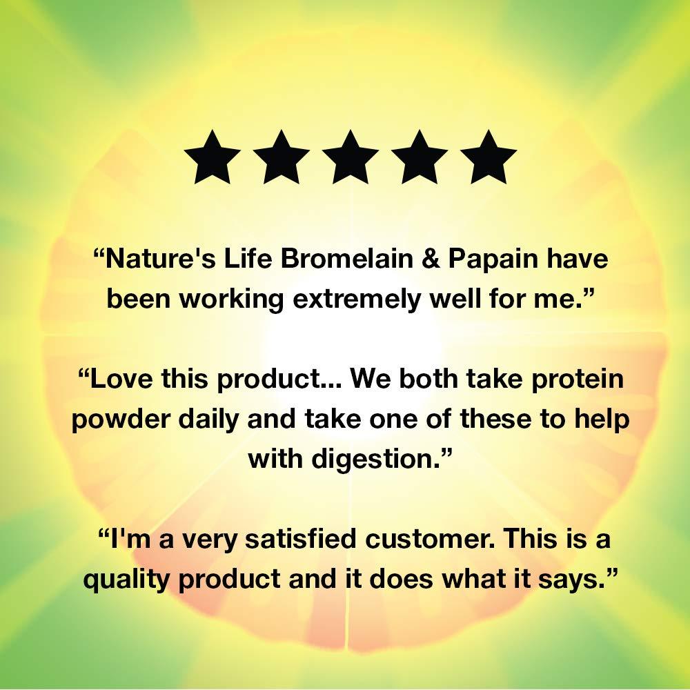 Natures Life Bromelain & Papain Veg Capsules, 250/250 Mg, 100 Count ...