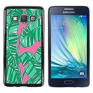 Exotic-Star ( Jungle Nature Pink Watercolor ) Fundas Cover Cubre Hard Case Cover para Samsung Galaxy A3 / SM-A300