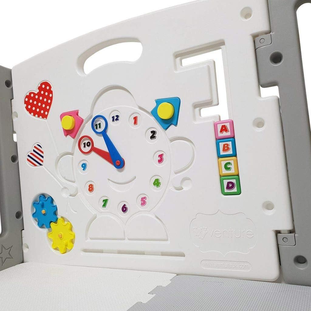 Venture All Stars Duo parque infantil bebe Gris para Beb/és incluye colchonetas y pelotas
