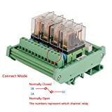 DC 12V Relay Module for DIN Rail Mount 4-Channel