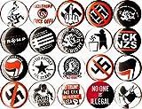 ANTI TRUMP ANTI NAZI set of 20 1'' inch (25 mm) buttons pins fascist boycott GOODNIGHT ALT RIGHT antifa