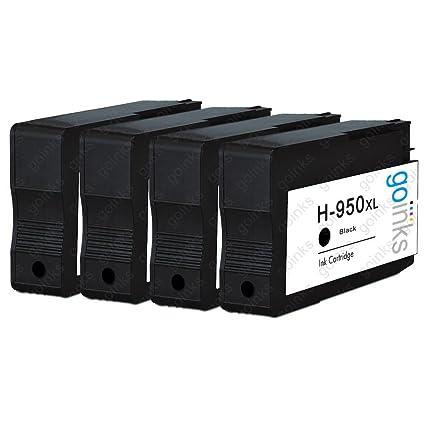 4 tintas Go negro compatible Impresora Cartuchos de tinta ...