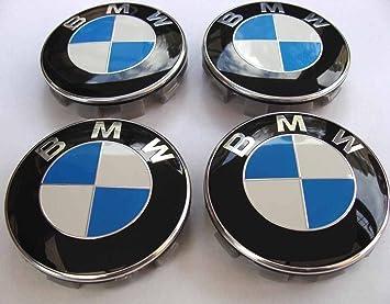 Lote de 4 logos de 68 mm, blanco y azul, para centro de rueda, tapacubos: Amazon.es: Coche y moto