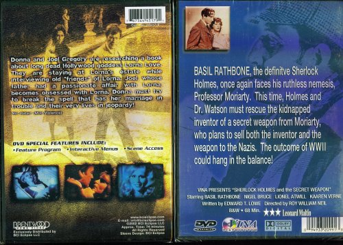 Death At Love House & Sherlock Holmes And The Secret Weapon - 2 Seperate Mystery & Suspense DVDs In Set