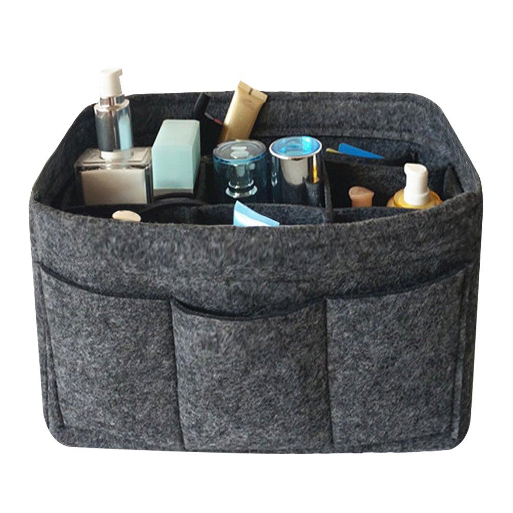 MAZU Felt Insert Bags Handbag Tote Purse Organizer Bag in Bag Backpack Travel Storage Pockets Large Grey I