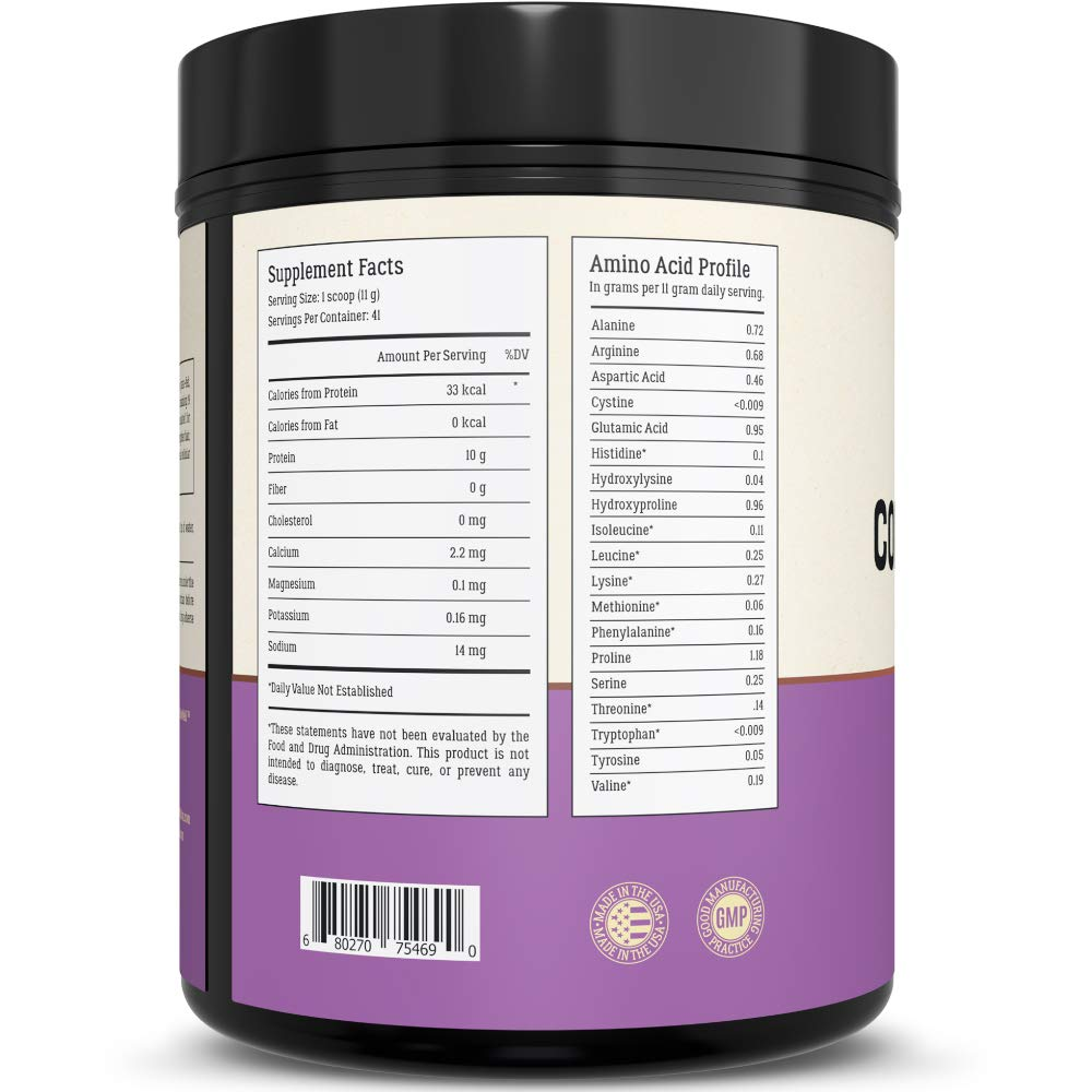 Collagen Peptides - Hair, Skin, Nail, and Joint Support - Type I & III Collagen - All-Natural Hydrolized Protein - 41 Servings by LiveWell Labs Nutrition    (Image #3)