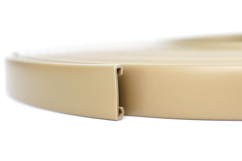 10m PVC Handlauf Treppenhandlauf Kunststoffhandlauf 40x8 mm gold