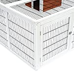 "PawHut 64"" Wooden Outdoor Rabbit Hutch Playpen with Run and Enclosed Cover 14"