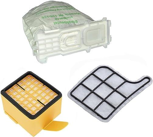 12 bolsas para aspiradora, filtro de protección del motor y filtro higiénico para Vorwerk - Kobold 135 136 135SC VK135 VK136: Amazon.es: Hogar