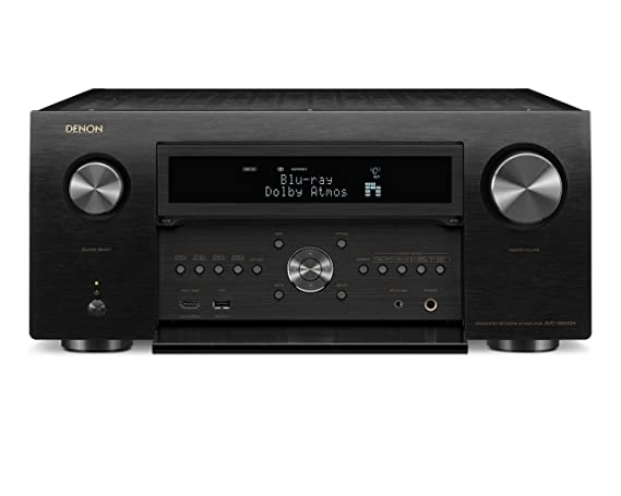 Denon AVR-X8500H Flagship Receiver - 8 HDMI In /3 Out, Powerful 13 2  Channel (150 W/Ch) Amplifier for Home Theater | Dolby Surround Sound, Music