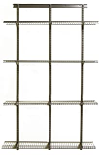 Elegant ClosetMaid 52845 ShelfTrack Adjustable Utility Organizer Kit,Nickel,4u0027.