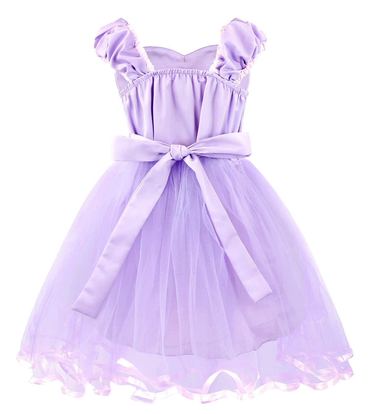 Cotrio Girls Princess Rapunzel Dress up Costume Halloween Cosplay Fancy Party Dresses Size 4T (110, Rapunzel Tutu Dress) by Cotrio (Image #2)