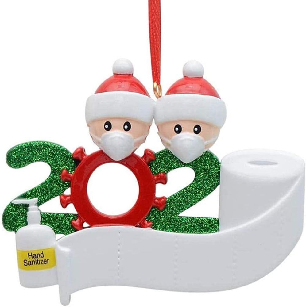 Weihnachtsstehende Ornamente Frohe Weihnachten Puppe Rechte Bev/ölkerungsde Familie personalisierte Baum Ornament 2020 Weihnachtsmann Sozialpartei Distanzierung Weihnachtsmann mit Maske