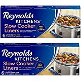 Reynolds Kitchens BsoTVp Slow Cooker Liners, regular Size, 6 Count, 2 Pack