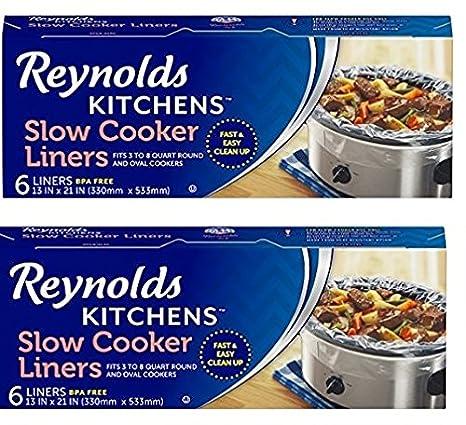 Amazon.com: Reynolds Kitchens BsoTVp Slow Cooker Liners, Regular Size, 6  Count, 2 Pack: Home U0026 Kitchen