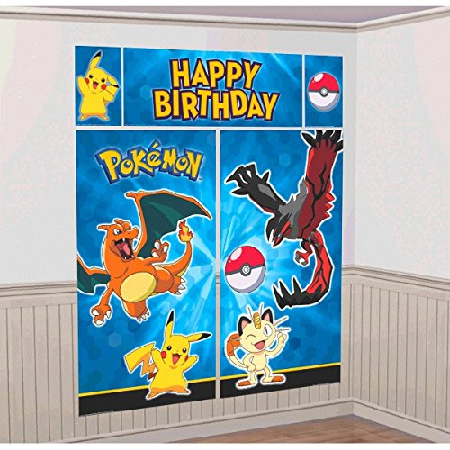 Setter Wall (Pokemon Go Kids Party Scene Setter Wall Decorations Kit - Kids Birthday and Party Supplies)