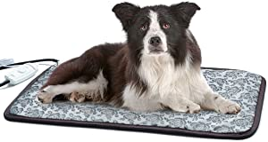 RC SLL Cat Heating Pads Electric Heating Pad Waterproof Adjustable Warming Mat with Chew Resistant Steel Cord