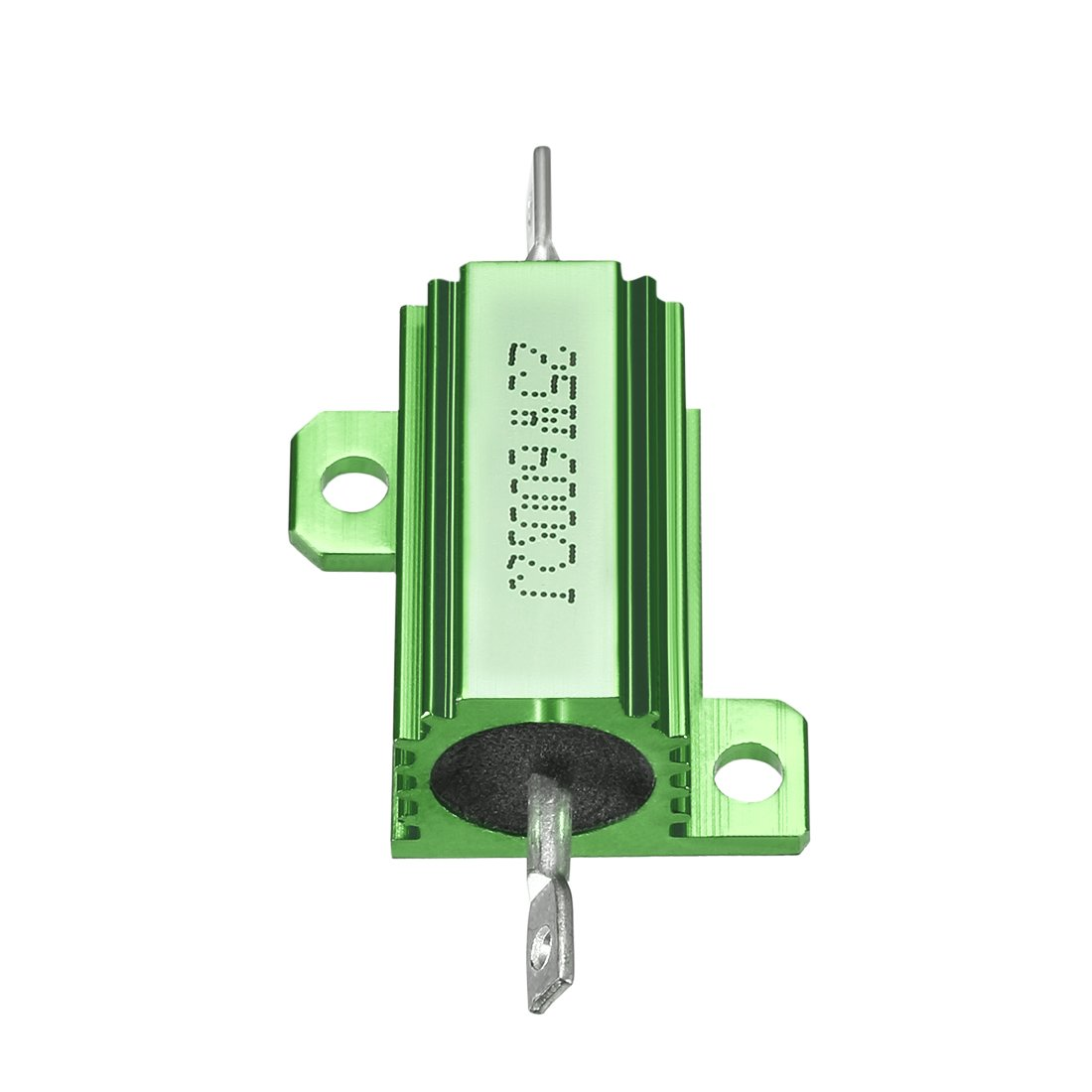 uxcell 25W 600 Ohm 5/% Aluminum Housing Resistor Screw Tap Chassis Mounted Aluminum Case Wirewound Resistor Load Resistors Green 1 pcs