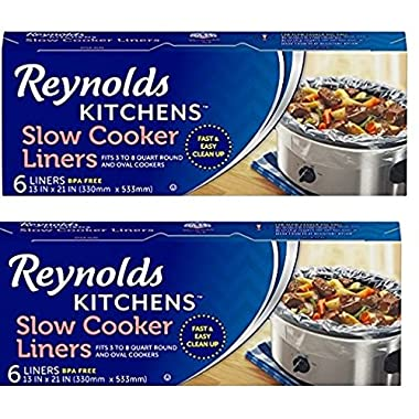 Reynolds Kitchens gaWpHZ Slow Cooker Liners, regular Size, 6 Count, 2 Pack