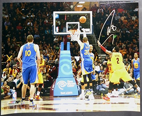 "Stephen Curry Autographed 20"" x 16"" Photograph - signed in gold. vs. Cavs"