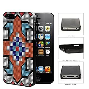 Native American Mosaic Art Hard Plastic Snap On Cell Phone Case Apple iPhone 4 4s
