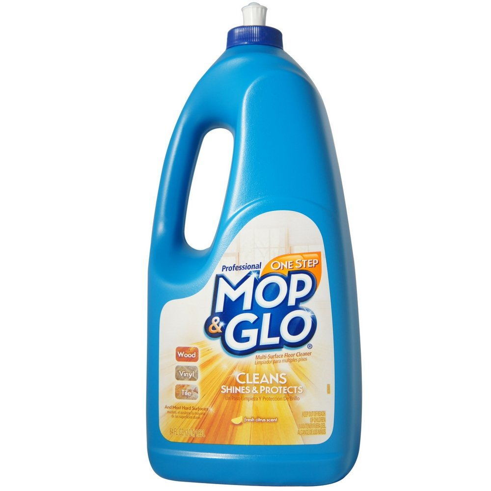 Mop & Glo Professional Multi-Surface Floor Cleaner, Fresh Citrus Scent 64 oz (Pack of 2) by Mop &  Glo