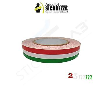 Quattroerre 10685 Strisce Adesive Tricolore Racing Stripe per Moto