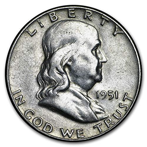1951 Franklin Half Dollar Fine/XF Half Dollar Fine