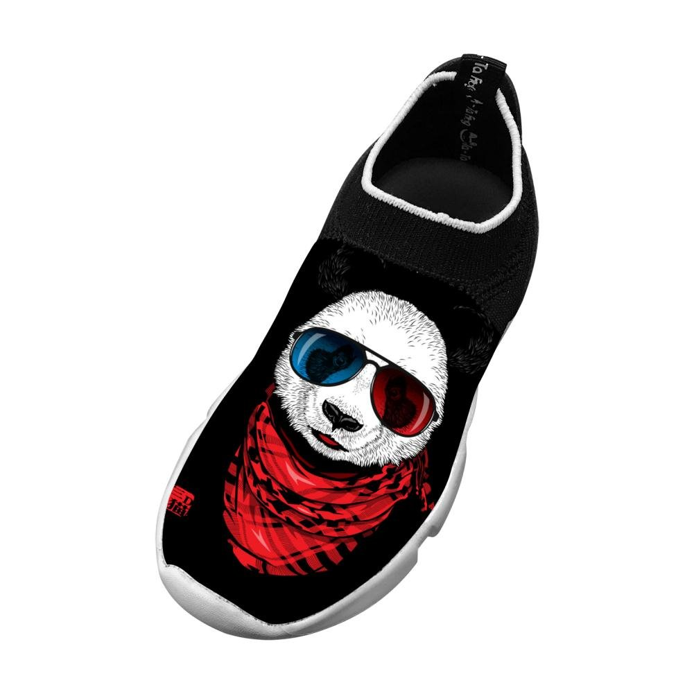 MREIO Sunglasses Children's 3D Print Fly Knit Shoes Outdoor Loafers Sneakers Gym Shoes For Kids 3 B(M) US Big kid