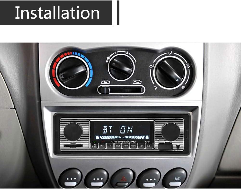 EGFHEAL Car Stereo Car Audio FM Radio Car MP3 Player Vintage Car Radio Stereo USB AUX Classic Car Stereo Audio