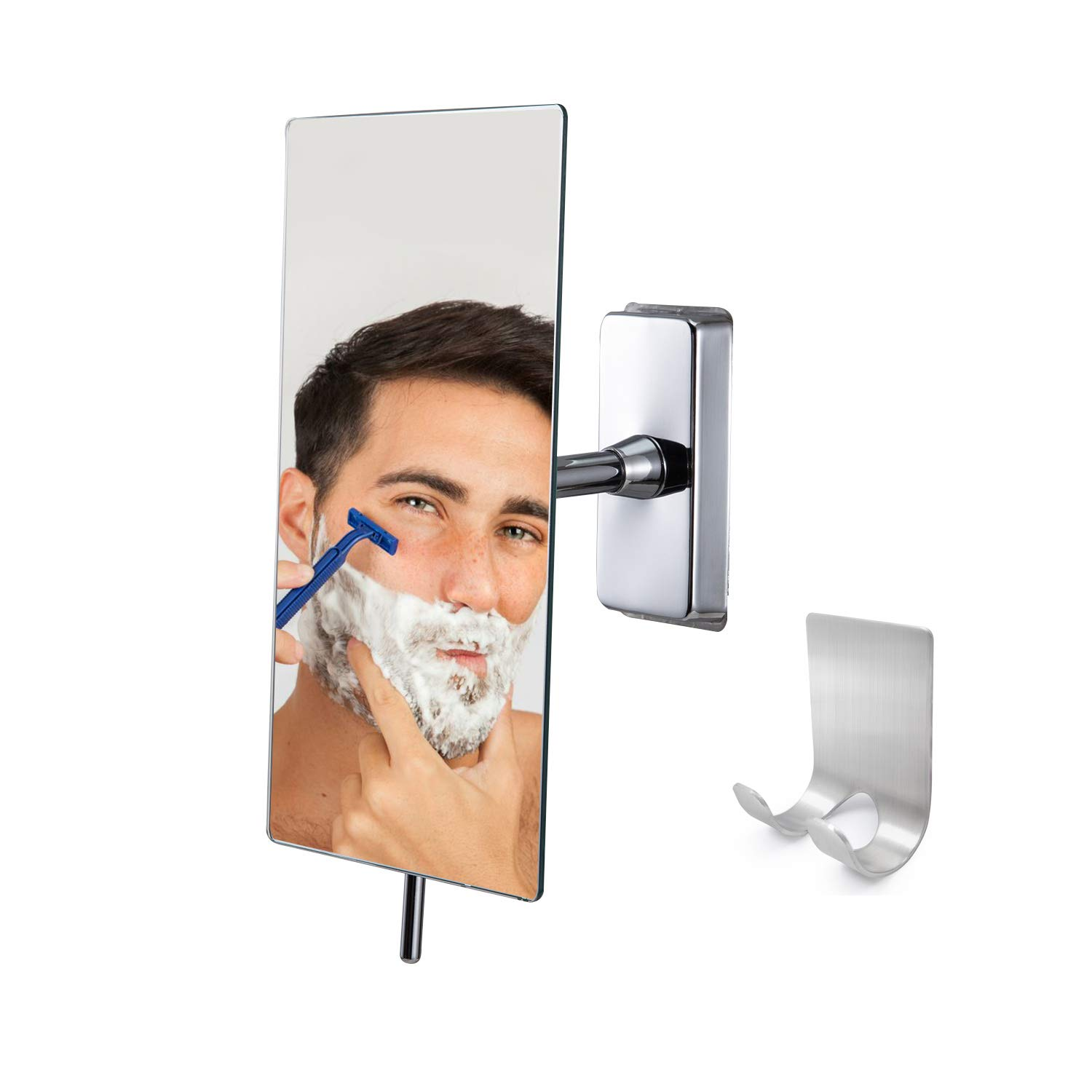 Canoz-FM-RM01 Fogless Shower Mirror with 360 Degree Rotating, Not Need Hot Water by Canoz
