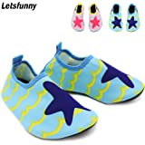 Letsfunny Baby Water Shoes, Unisex Infant Swim Shoes, Quick Dry Kids Beach Shoes (Blue S)