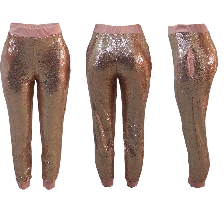 Damen Pailletten Leggings Hose , Yogogo Hohe Taille Pants   Dünne ...