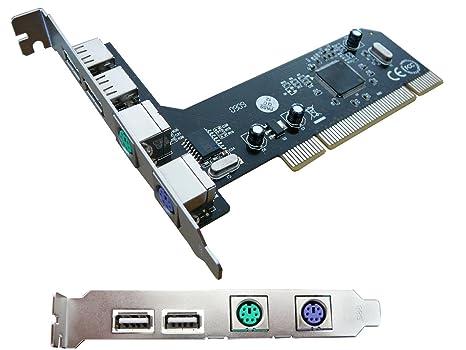KALEA-INFORMATIQUE-Tarjeta controladora PCI USB 2,0 PS/2 ...