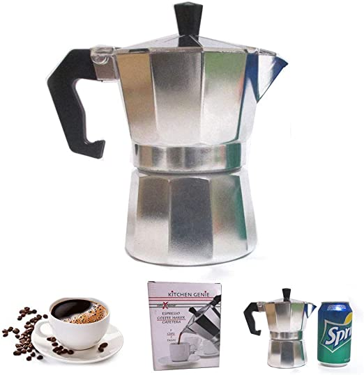 Stove Top Espresso Cuban Coffee Maker Pot Cappuccino Latte 3 Cup Cafetera Cubana