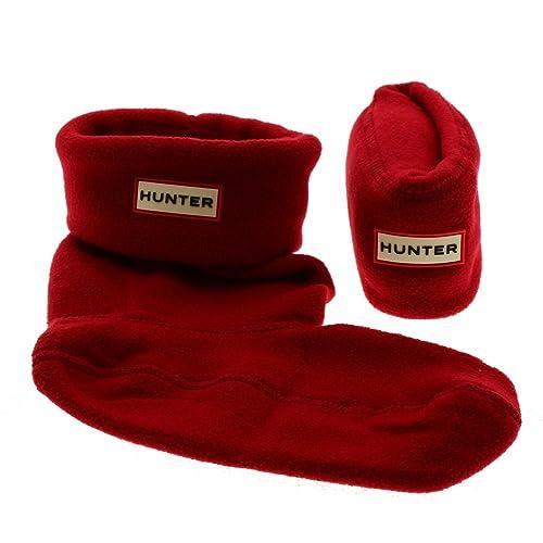 Calcetines Forro Polar Rojo Botas Lluvia Hunter Socks Kids Original