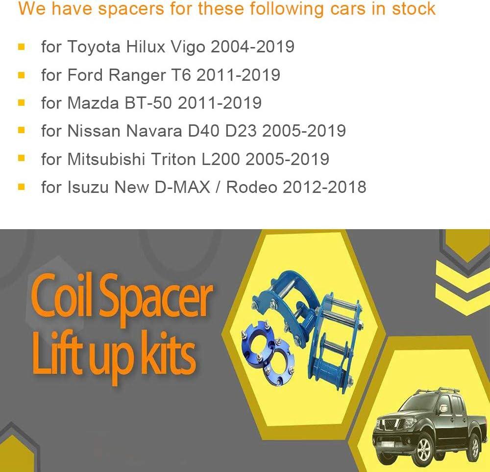 JINGLINGKJ 32MM Front Suspension 51MM Gifts Presents Rear Suspension Blocks Lift Up Kits for 2011-2019 Ranger T6 BT50 UBolt Kit/Raise Adapter Strut Spring 2Pcs