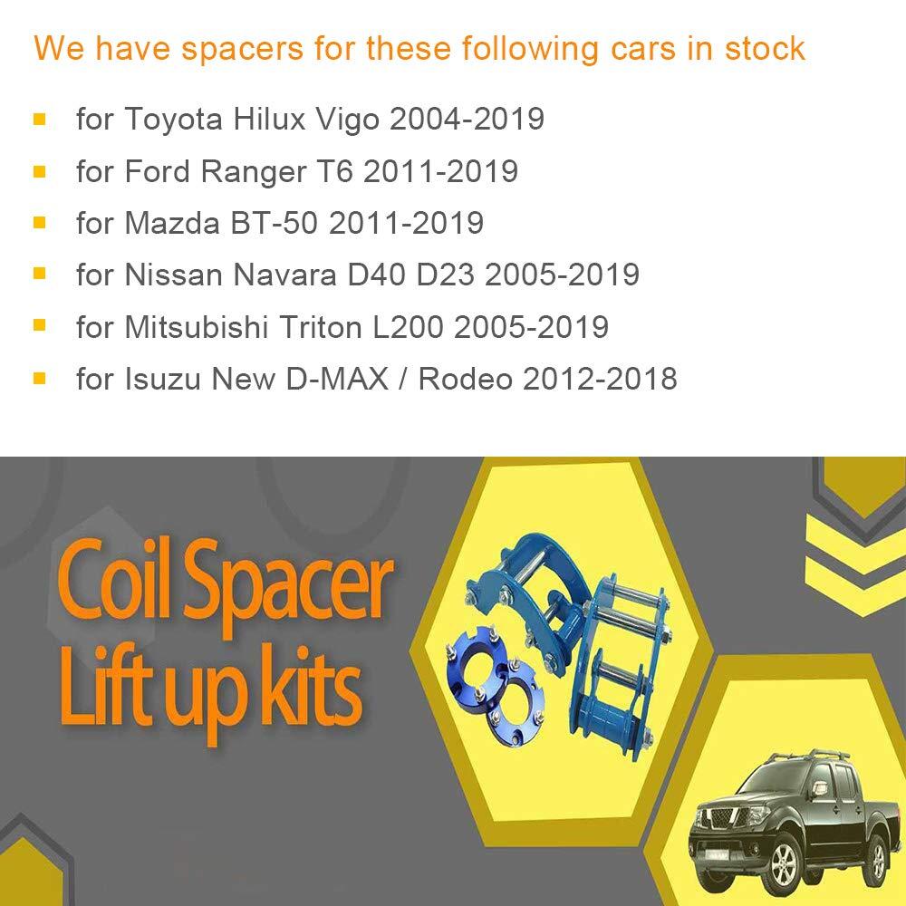 51 bloques de suspensi/ón trasera kits de elevaci/ón para To-Yota Hilux Vigo 2011-2019 UBolt Kit adaptador de elevaci/ón JINGLINGKJ Espaciadores de suspensi/ón delantera de mm 32 mm