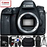 Canon EOS 6D Mark II DSLR Camera (Body Only) - 11PC Accessory Bundle Includes 32GB SD Memory Card + High Speed Card Reader + Soft Padded Medium Carrying Case + Automatic Flash w/ LED Light + MORE